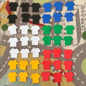 Shirts Sports Jersey Scrapbooking Stickers Foam
